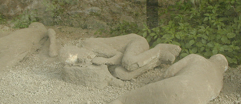 Plaster Casts at the Garden of the Fugitives in Pompeii