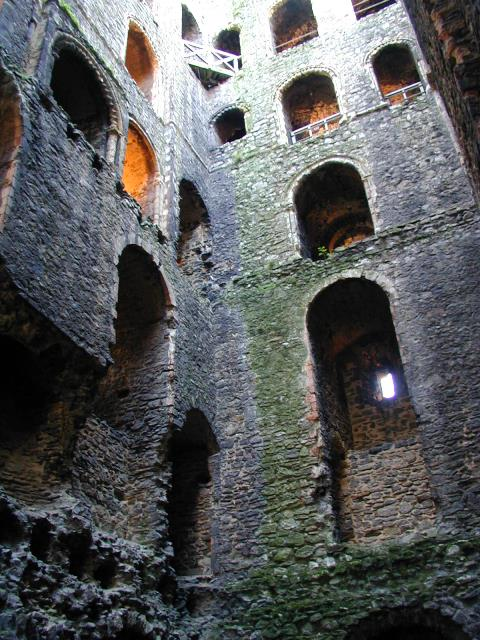The interior of the keep at Rochester Castle today